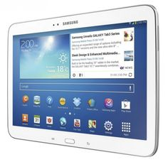 Samsung Galaxy Tab 3 10.1 looks great in white.