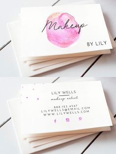 Makeup artist business card Template PSD