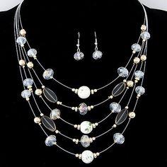 Multilayer Bohemia Beads Choker Gem Crystal Necklace – shawalt