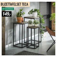 Table Bar, Wood Table, Industrial Side Table, Petites Tables, Teak Wood, Bar Stools, Table Settings, Living Room, Interior