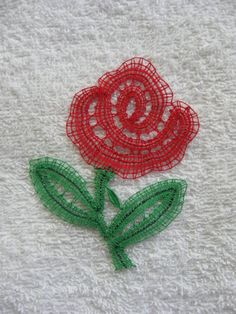Handmade bobbin lace rose  ideal for framing by OllybobsCrafts, $15.00