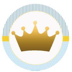 Príncipe Coroa Dourada – Kit festa infantil grátis para imprimir – Inspire sua Festa ®