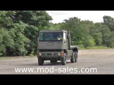 ▶ For sale Mowag Bucher Duro II 6x6 flatbed truck with HIAB crane UK MOD - YouTube