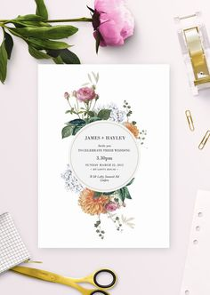 Elegant Bohemian Decor: Elegant Floral Botanical Wedding Invitations by Sa...