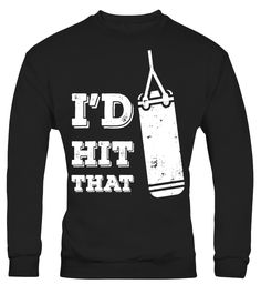 I'd Hit That Funny Gym Humor Punching T-Shirt Grunge Design https://www.musclesaurus.com