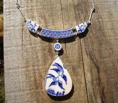 Bluebird Broken Willow Plate Sterling Silver by AaronKiddDesign
