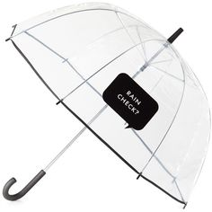 "kate spade new york ""Rain Check?"" Umbrella ($38) ❤ liked on Polyvore featuring accessories, umbrellas, fillers, other, extra, kate spade and kate spade umbrella"
