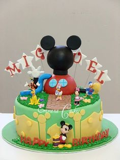 Mickey mouse clubhouse cake 1 - Erivana Cakes