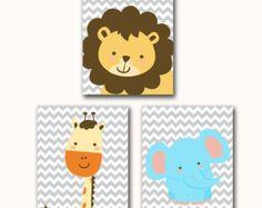 Printable Wall art Jungle Animals Set Giraffe by PurpleChicklet
