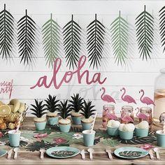 décoration anniversaire tropical