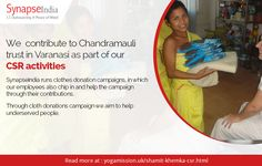 SynapseIndia CSR team contributes to Chandramauli trust in Varanasi, as a part of its Corporate Social Responsibility activities.  Read more at  http://synapseindia-csr.blogspot.in/2017/01/synapseindia-csr-initiatives-donating-clothes-for-children.html