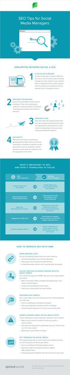 How To Improve SEO With #SocialMedia Marketing - #infographic