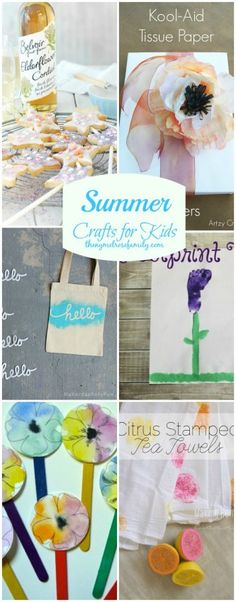 Summer Crafts for Kids - all so pretty! :)
