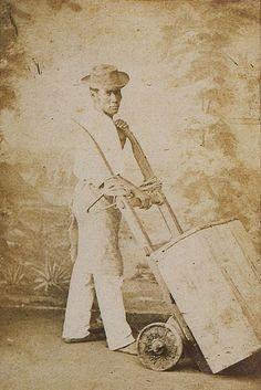 Escravo de ganho na cidade de Rio de Janeiro, 1865.