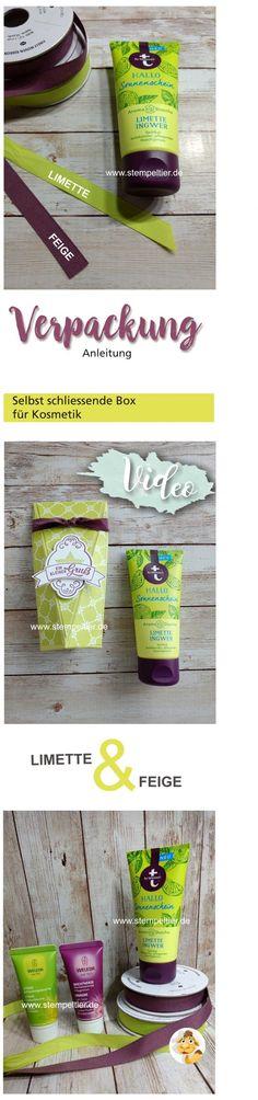 stampin anleitung maße box verpackung handcreme duschgel limette feige stempeltier video