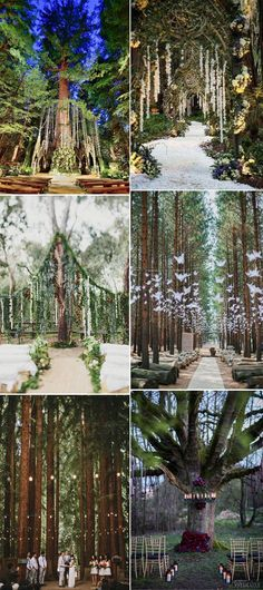 inspirational enchanted forest wedding ceremony ideas