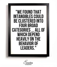 The importance of leadership intangibles for valuation