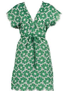 Flowers-blooming-dress-in-green $70 love the color and bold pattern
