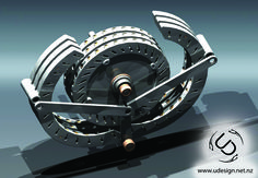 Magnetic Motor Concept - STEP / IGES,STL - 3D CAD model - GrabCAD