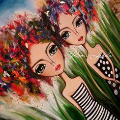 Painting Acrylic Face Art Journals 21 Ideas For 2019 Funky Art, Doll Painting, Painting People, Arte Pop, Naive Art, Angel Art, Art Journal Inspiration, Flower Art, Pop Art