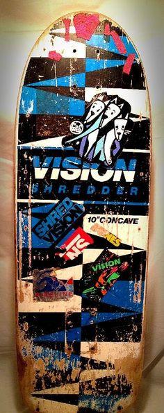 80's VISION Shredder skateboard deck I had this color.