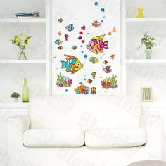 [Swimming Fish] Decorative Wall Stickers Appliques Decals Wall Decor Home Decor by Hemu Wall Sticker. $4.89. Decorate baby and kids nursery, interior walls or windows of home, bathroom, office, dorm, or store.. Simple & easy to make the wall a masterpiece with Blancho Bedding wall stickers decals.. 100% brand new, quality & a good design; Be made of waterproof and durable vinyl.. Easy to install. Just peel slightly and stick on the smooth wall, which won't harm the Wall.. Size...