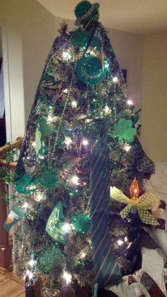 St. Patrick's Day Tree. Year round tree by Kellie Rarick.