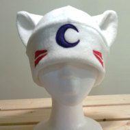 InuYasha Sesshoumaru cat Hat white cat cat ears cat by qwear01