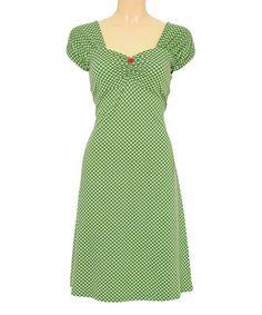 Louie et Lucie Jungle Gingham Heidi Cap-Sleeve Dress | zulily