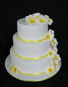 I like it but you could add some more colors.  Wedding Cakes Pictures: Yellow Frangipani Wedding Cakes