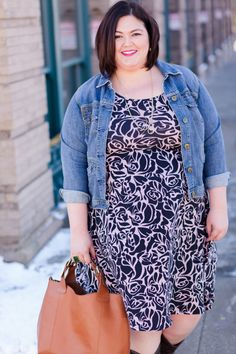 Plus Size Fashion - Authentically Emmie in the Skyar Dress from SWAK Designs