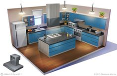 The Sims Concept Art by Deiv Calviz Minecraft Kitchen Ideas, Minecraft Room, Minecraft Ideas, Sims 3 Houses Ideas, Sims Ideas, Sims 4 Ps4, Sims 4 House Plans, Sims 4 Kitchen, Sims 4 House Design