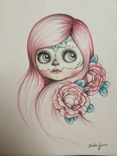 Resultado de imagen para catrina tatuaje boceto