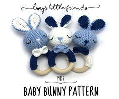 Baby Bunny Rattle Crochet Pattern Amigurumi PDF   Etsy