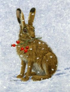 The hare and rosehips or cranberries?