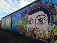 New York Street Artist Alice Mizrachi worked with an art class from UNC to create a mural at the Colorado Model Railroad Museum. #YourWhimsicalDream #GreeleyUnexpected