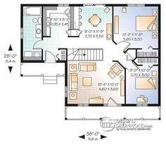 Amazing Rez De Chaussée Plan De Maison 1 étage Avec 2 Entrées, 2 Chambres