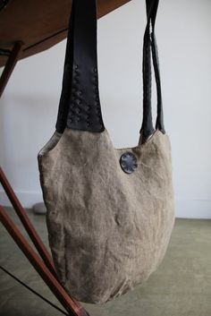 handcrafted linen bag by @Mathieu Abet Dagneaud designs on etsy