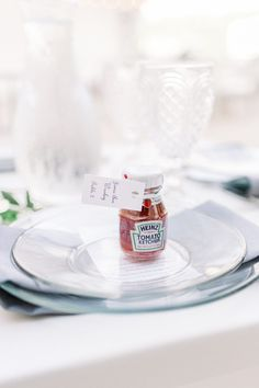 Modern Minimalist Wedding at the Terrace at Hyatt House. For more tented wedding ideas, visit burghbrides.com! #weddingfavors #pittsburghwedding #weddinginspiration Tent Wedding, Wedding Favors, Ketchup Bottles, Fall Color Schemes, Blush Flower Girl Dresses, Modern Minimalist Wedding, Burgundy Bridesmaid Dresses, Wall Backdrops, Wedding Inspiration