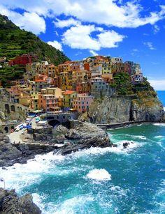 Cinque Terre Village of Manarola costal Italian city