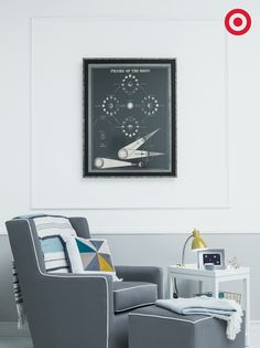 Mix vintage, educational posters with modern nursery furniture for a look that feels fresh and timeless.