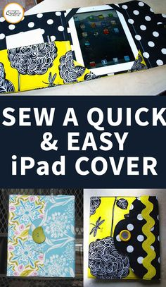 These decorative booklets are a snug fit for the iPad! They are Fat Quarter Friendly and with four flap styles to choose from you'll find the style you like – and make one for a friend! This pattern will work for the 1st – 4th generations of iPads and the iPad Air.