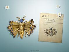 Creatures of ephemeral beauty, butterflies have been one of the Maison's major sources of inspiration.  1947 Butterfly clip set in yellow gold with yellow and blue sapphires. #VCAspring  Find out more about Butterflies inspiration: http://goo.gl/Y9XvWW