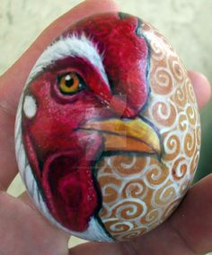 This is a brown chicken egg that I painted. It sold last year to a buyer in Australia. (that egg's been further from home than I've ever been!) Check out my items for sale at www.MandarinMoon.etsy....
