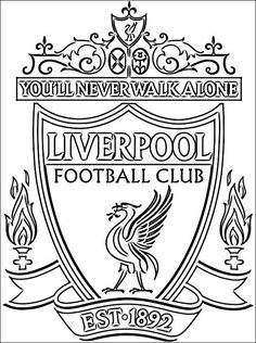 Best Printable: Liverpool fc coloring pages Football Liverpool, Liverpool Fc Badge, Liverpool Fc Champions League, Anfield Liverpool, Liverpool Fans, College Football, Liverpool Tattoo, Tatouage Liverpool, Borussia Dortmund