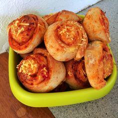 Schnelle vegane Pizza-Schnecken