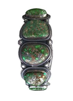 Cuff bracelet | Kirk Smith (Navajo).  Sterling silver and Carico Lake Turquoise