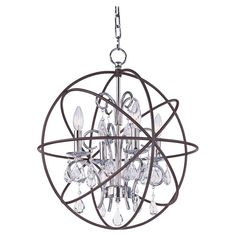 Nell 4-Light Chandelier in Anthracite - Wow Factor on Joss & Main