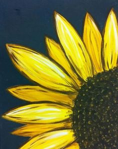 sunflower painting canvas paintings easy acrylic yellow flower flowers orange paint simple drawing cocktails watercolor inspiration sunflowers things projects beginner