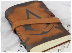 Leather Sketchbook Inspired By Assassins by ChrisOsCreations, €35.00 Andy would love it